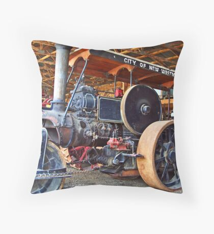 Ruston Tractor Throw Pillow