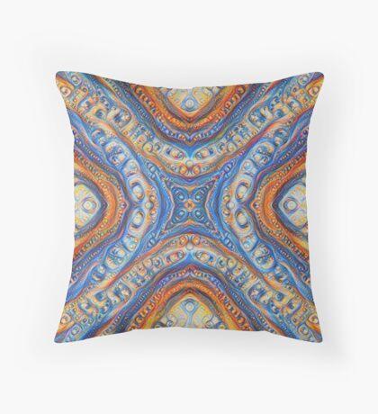 Demicircles #DeepDream Throw Pillow