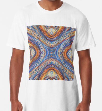 Demicircles #DeepDream Long T-Shirt