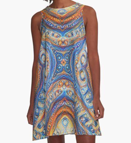 Demicircles #DeepDream A-Line Dress