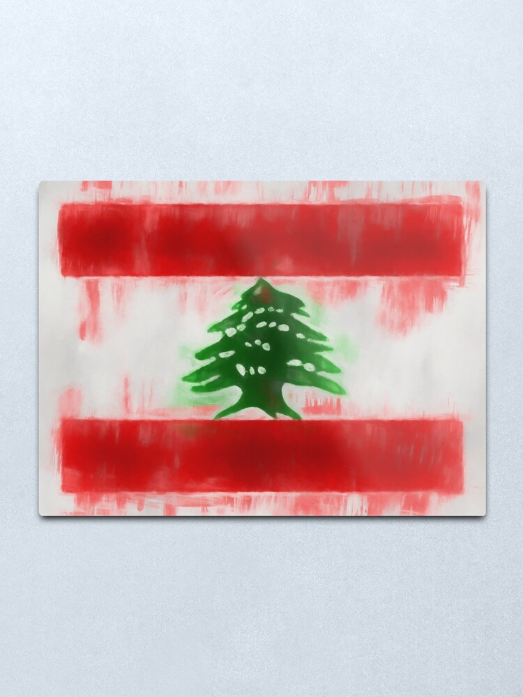 Alternate view of Lebanon Flag Reworked No. 66, Series 1 Metal Print