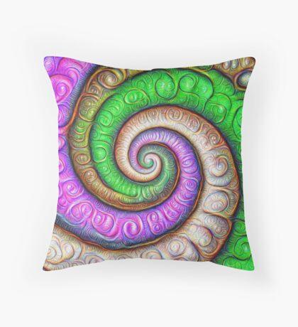 Fibonacci spiral #DeepDream #Art Throw Pillow