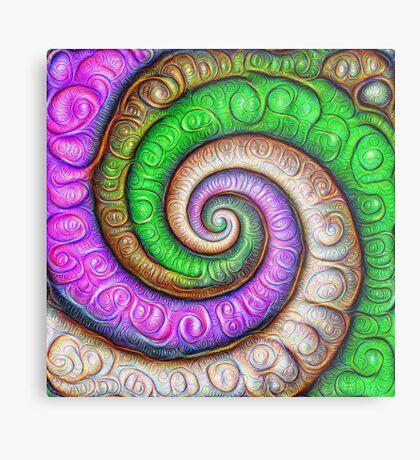 Fibonacci spiral #DeepDream #Art Metal Print