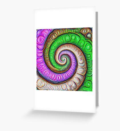 Fibonacci spiral #DeepDream #Art Greeting Card