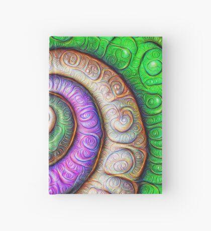 Fibonacci spiral #DeepDream #Art Hardcover Journal