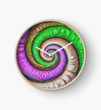 Fibonacci spiral #DeepDream #Art Clock