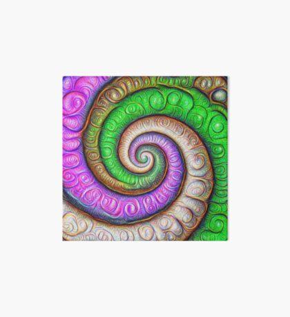 Fibonacci spiral #DeepDream #Art Art Board Print