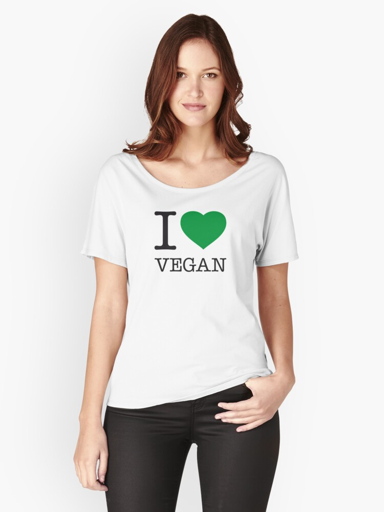 I ♥ VEGAN Women's Relaxed Fit T-Shirt Front