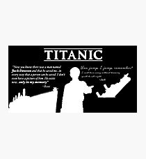 Titanic Leonardo Dicaprio (Young) Quotes. Photographic Print