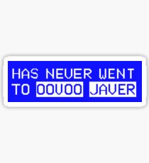 Oovoo Javer Sticker
