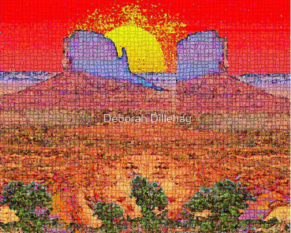 Purple Desert Towers by Deborah McCormick