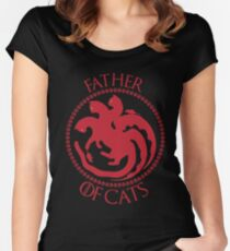 Father of Cats Gift For Cat Lovers Women's Fitted Scoop T-Shirt