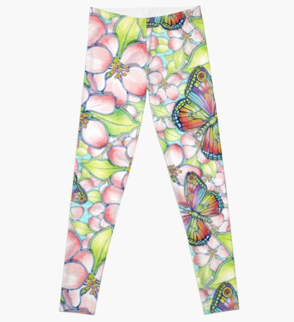 Rainbow Butterfly Blossoms Leggings