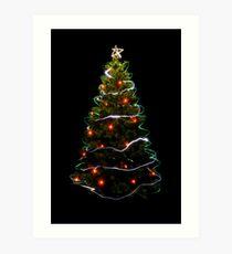 Christmas Tree Light Art Print