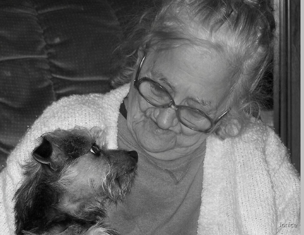 Candid Shot Of Rosie Black And White by Jonice