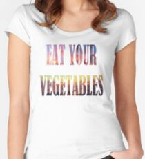 Eat your vegetables Women's Fitted Scoop T-Shirt