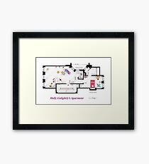 Breakfast at Tiffany's Apartment Floorplan Framed Print