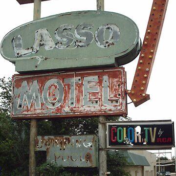 Original 66 Motel Sign Tucumcari by spiritofroute66