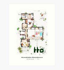 """Kusakabe Residence from """"Tonari no Totoro"""" film Art Print"""