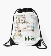 "Kusakabe Residence from ""Tonari no Totoro"" film Drawstring Bag"