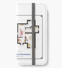 """Floorplan of the House from """"UP"""" iPhone Wallet/Case/Skin"""