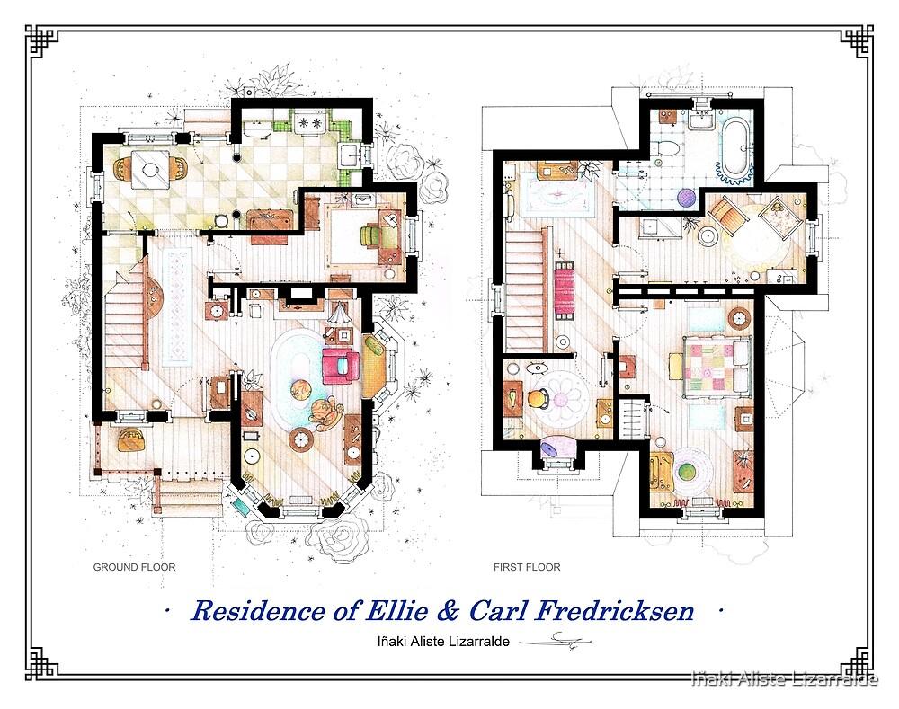 """Floorplan of the House from """"UP"""" by Iñaki Aliste Lizarralde"""