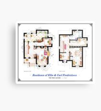 """Floorplan of the House from """"UP"""" Metal Print"""
