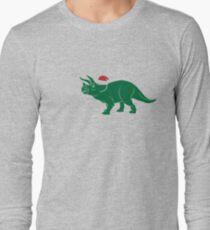 Ho Ho Ho - Merry Tricera-mas Long Sleeve T-Shirt