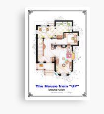 The House from UP - Ground Floor Floorplan Metal Print