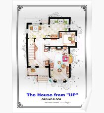 The House from UP - Ground Floor Floorplan Poster