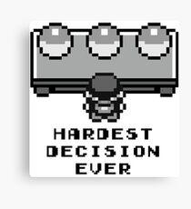 Pokemon - Hardest decision ever Canvas Print