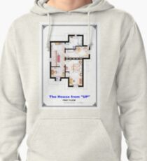The House from UP - First Floor Floorplan Pullover Hoodie