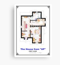 The House from UP - First Floor Floorplan Canvas Print