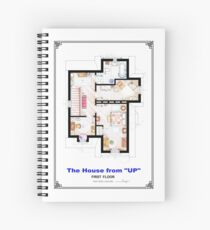 The House from UP - First Floor Floorplan Spiral Notebook