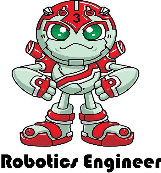 Robobot Off To Mars Three Robotics Engineer Posters By