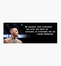 Conor McGregor Motivational Poster Photographic Print