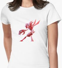 Porymon Scizor | Polygonal Pokemon Series Women's Fitted T-Shirt