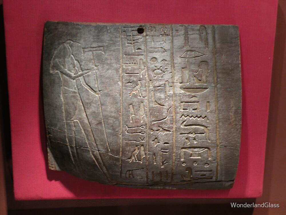 clay tablet with Goddess Hathor by WonderlandGlass