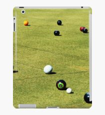 Lawn Bowls Competition Game In Action, iPad Case/Skin