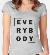 Everybody- Logic Black Text Women's Fitted Scoop T-Shirt