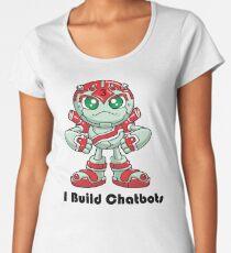"Robobot ""Off to Mars"" / Three / I Build Chatbots Women's Premium T-Shirt"