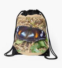 Common Eggfly Butterfly - (Hypolimnas bolina)  Drawstring Bag