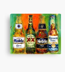 Modelo, Dos Equis, Corona - Mexican Beers   Canvas Print