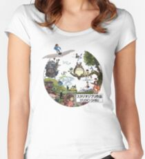 Ghibli Women's Fitted Scoop T-Shirt