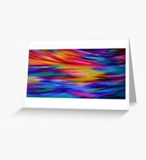 ETHEREAL SKY - Large Abstract Sky Oil Painting  Greeting Card