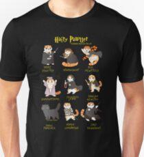 Hairy Pawter Funny Christmas T-Shirt Magic Cat Glasses Gift T-Shirt