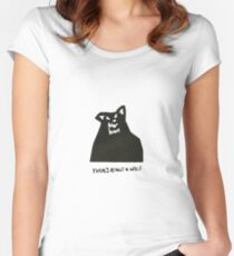 there's really a wolf Women's Fitted Scoop T-Shirt