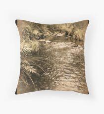 Tuponga River - Treated Throw Pillow