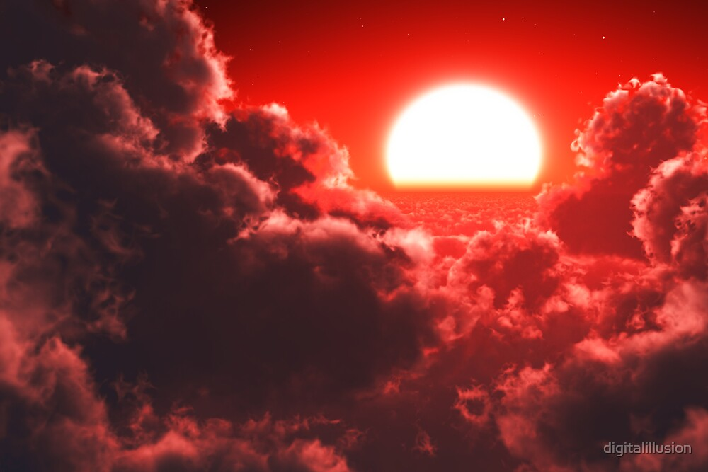 Cloudscape red by digitalillusion