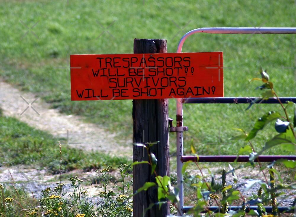 No Trespassing! by CarolM
